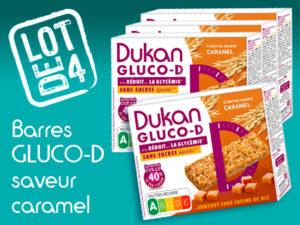 Lot de 4 Barres Gluco-D saveur caramel