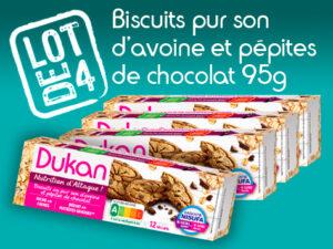 Lot de 4 Biscuits au pur son d'avoine aux pépites de chocolat 95g