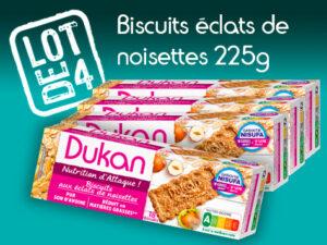 Lot de 4 Biscuits aux éclats de noisettes 225g