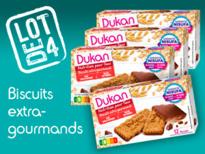 Lot de 4 Biscuits extra gourmand