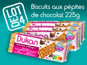 Lot de 4 Biscuits aux pépites de chocolat 225g