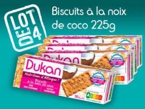 Promo lot de 4 Biscuits à la noix de coco 225g DDM Longue