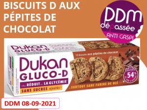 Anti-gaspillage biscuits D aux pépites de chocolat DDM 08-09-2021