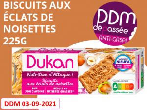 Anti Gaspillage – biscuits aux éclats de noisettes 225g DDM 03-09-2021