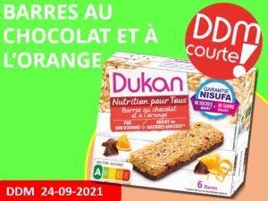DDM courte – anti-gaspillage barres au chocolat et à l'orange DDM 24-09-2021