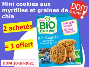Lot de 3 mini cookies aux myrtilles et graines de chia DDM 20-10-2021