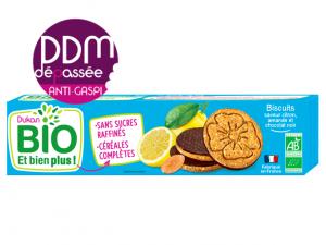 ANTI-GASPI Biscuits saveur citron, amande et chocolat noir DDM 20-07-2021