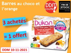 Lot de 4 Barres au chocolat et à l'orange DDM 10-11-2021 Fin de stock